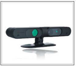 Prime Sense's capture device. On the same device various sensors (IR and CMOS) and the specialized chips that process information captured in real time are included.
